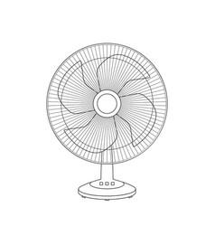 fan sketch vector image vector image