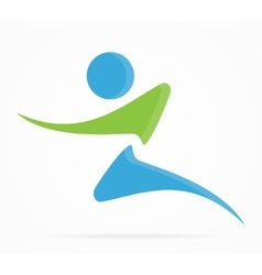 fitness and running logo vector image