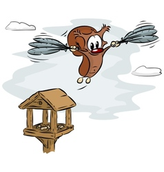 flying squirrel vector image vector image