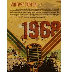 grunge retro concert poster vector image vector image