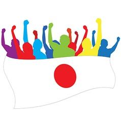 Japan fans vector image