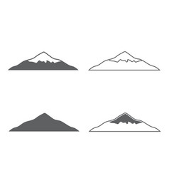mountset of monochrome forms of mountains vector image vector image