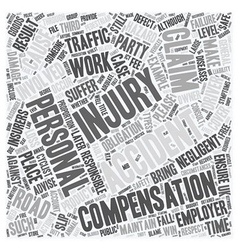 Personal Injury Accident Types text background vector image vector image