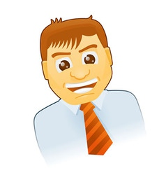 Business Cartoon Character vector image