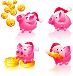happy new years piggy bank vector image