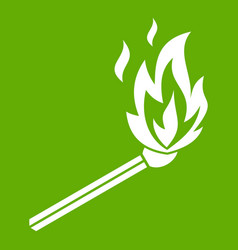 match flame icon green vector image vector image