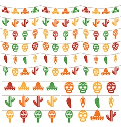 mexican bunting vector image
