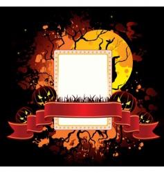 ribbon Halloween vector image vector image