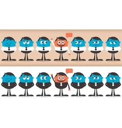Volunteer characters vector image vector image