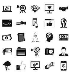 fee for the project icons set simple style vector image vector image