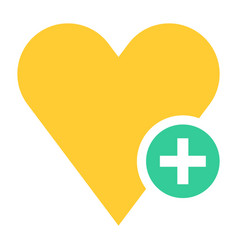 flat heart icon favorite sign liked button vector image