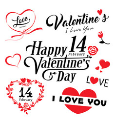 happy valentines day message collections vector image vector image