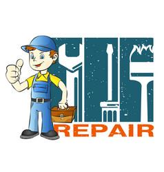home repairman vector image vector image