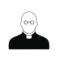 Priest black simple icon vector image