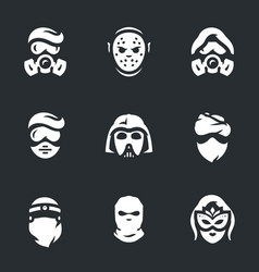 set of halloween costume icons vector image vector image