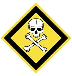 Skull and crossbones symbol vector image vector image