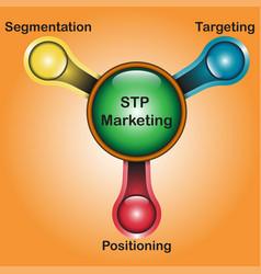 stp marketing diagram - water tap design vector image