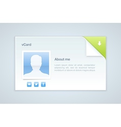 visit card personal info vector image vector image