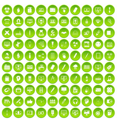 100 webdesign icons set green vector