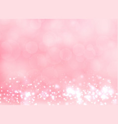 Abstract pink blurred light background with bokeh vector
