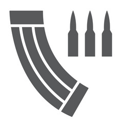 ammunition magazine glyph icon army and military vector image