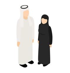Arabic couple icon isometric style vector