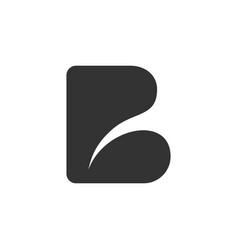 B logo abstract simple minimalist design modern vector