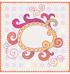 Background with bright frame vector image