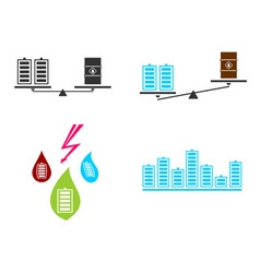 battery fuel electricity vector image vector image