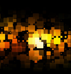 Black orange yellow glowing rounded tiles vector