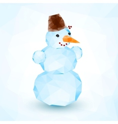 Bright blue crystal isolated snowman vector image