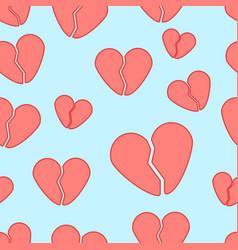 Broken heart pattern vector