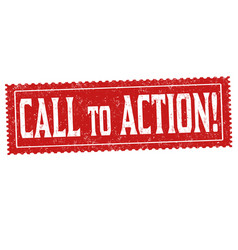 Call to action grunge rubber stamp vector