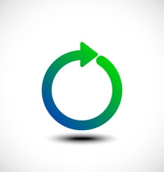 Circle arrow vector image
