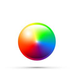 cmyk round colour selector vector image