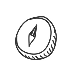 Compass icon sketch and science design vector