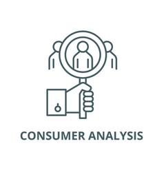 Consumer analysis line icon linear concept vector