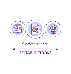 Copyright registration concept icon vector