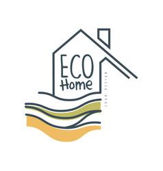 Eco home logo design ecologic home sign clean vector