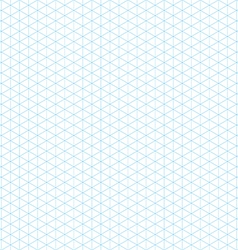 Empty isometric grid seamless pattern vector