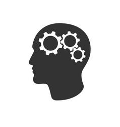 gears in head vector image