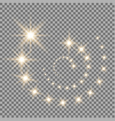 glittering flying stars golden color vector image