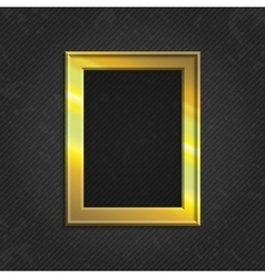 Gold modern picture frame vector image