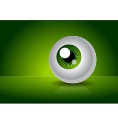 Green eye with gradient vector