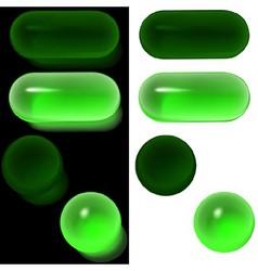Green Glass Buttons vector