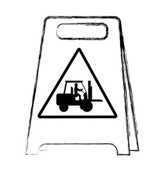 Grunge plastic caution emblem and laborer vector