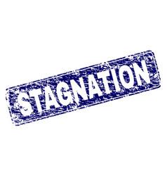 grunge stagnation framed rounded rectangle stamp vector image