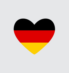 heart in colors of the germany flag vector image