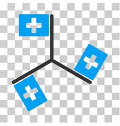Hospital flags icon vector