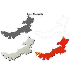 Inner Mongolia blank outline map set vector image